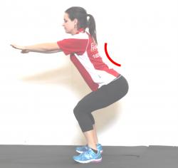squat back arch