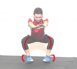 squat feet supinate