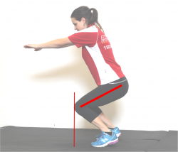 squat knees over toes