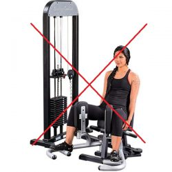 seated abductor machine