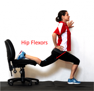 hip flexor labelled