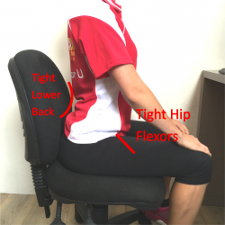tight muscles seated