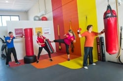Boxing and kickboxing training