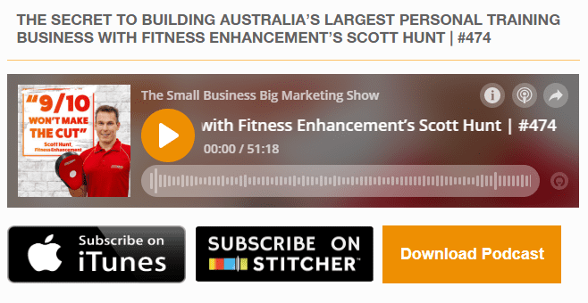 small business big marketing podcast interview with scott hunt