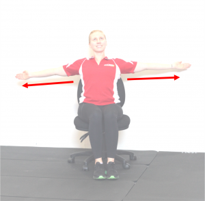 chest stretch chair no words